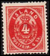 1873. Skilding. 4 Skilling Red. Perf. 14x13½. Thin Spot. (Michel: 3A) - JF191404 - Oblitérés