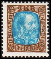 1904. King Christian IX. 2 Kr. Brown/greenblue. Only 30.000 Issued. (Michel: 46) - JF191407 - Oblitérés