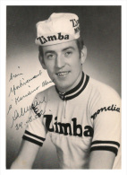 CARTE POSTALE CYCLISME AUGUSTE  GIRARD  TEAM  ZIMBA  1970  SIGNEE - Cycling