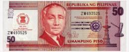 PHILIPPINES 50 PISO 2012 45 YEARS ASEAN Pick 211A Unc - Filippine