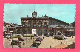 59 NORD LILLE, La Gare, Animée, Tramway, Traction, Juva 4, (Estel Lavelle & Cie, Paris) - Lille