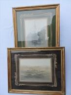 AMIRAL OLRY - CROISEUR AUXILIAIRE 1914-1917 CAMPAGNE ORIENT - 2 PHOTOS ENCADREES - Bateaux
