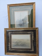 AMIRAL OLRY - CROISEUR AUXILIAIRE 1914-1917 CAMPAGNE ORIENT - 2 PHOTOS ENCADREES - Boats