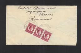 Romania Registered Cover Rasboeni Cetate Turda - 1918-1948 Ferdinand, Charles II & Michael