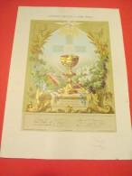 Souvenir De 1ére Communion/Eglise De Muzy/ Raymond JOUVET/ Abondant/1875   DIP55 - Religion & Esotericism