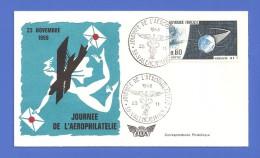 FRANCE FDC PREMIER JOUR JOURNÉE DE L'AEROPHILATELIE 1968 - FDC