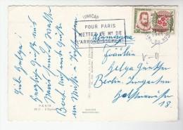 1961 FRANCE COVER Stamps 0.30 NICOT TOBACCO PLANT  (postcard Paris L'Opera)  Smoking Cigarette - Tobacco