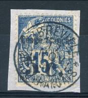 Congo 1891-92 Tipi Dubois Sovrastampati N. 2 C. 5 Su C. 15 USATO Su Frammento Catalogo € 230 Firmato - Unclassified