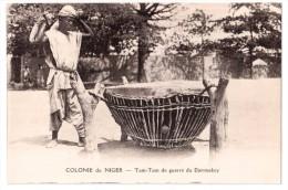 Colonie Du Niger - Tam-Tam De Guerre Du Djermakoy - édit. Labitte  + Verso - Niger