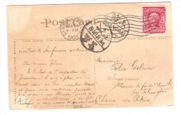 US Stamp Washington On PC Lake Merritt C.San Francisco 1908 To China Belgian Engineer PR2594 - Etats-Unis