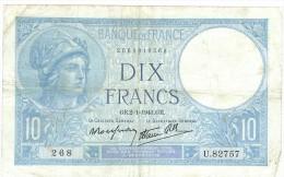 FRANCE 10 F MINERVE DU 2/1/1941 TB+ - 1871-1952 Anciens Francs Circulés Au XXème