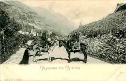 Belle Carte Cpa   -  Paysannes  Des Pyrénées , Anes          U629 - Anes