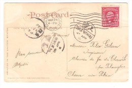 US Stamp Washington On PC Luther Burbank His Home C.San Francisco 1908 To China Belgian Engineer PR2595 - Etats-Unis