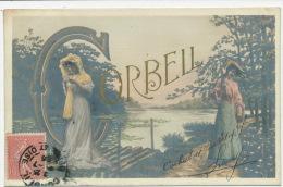 "CORBEIL ESSONNES - Jolie Carte Fantaisie Femmes "" CORBEIL "" - Corbeil Essonnes"