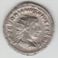 ROMAN COIN MONNAIE ROMAINE DE GORDIEN BILLON   RIC 156 - 5. The Military Crisis (235 AD Tot 284 AD)