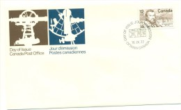 1977 Canada Sir Sandford Fleming 12c First Day Cover - First Day Covers