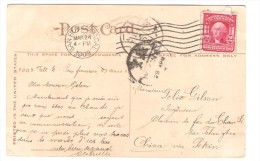 US Stamp Washington On PC Music Stand Golden Gate Park C.San Francisco 1908 To China Belgian Engineer PR2598 - Etats-Unis