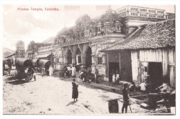 Colombo - Hindoo Temple - édit. Plâté  + Verso - Sri Lanka (Ceylon)