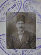 1919 British Passport For Cheik To Cairo Egypt Issued Consulate Bern Switzerland Schweiz Reisepass Passeport Passaporte - Historical Documents