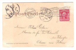 US Stamp Washington On PC The Apse Memorial Church C.San Francisco 1908 To China Belgian Engineer PR2600 - Etats-Unis