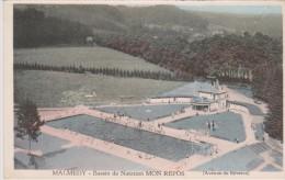 "Cpa Malmedy. Bassin De Natation ""Mon Repos"" Avenue De Bévercé. Colorisée. Edit. X.Delputz - Malmedy"