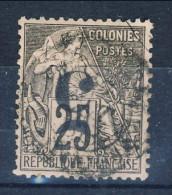 Cochinchine 1886-87 Tipi Colonie Francesi 1881 N. 4 Sovrastampa C Rovescio- C.5 Su C. 25 Nero-rosa USATO Catalogo € 400