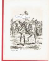 GRAVURE HUSSARDS 1885 ILLUSTRATEUR MAURICE TOUSSAINT - Uniforms