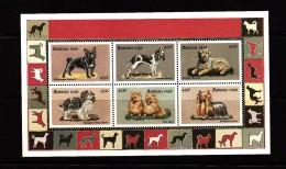 1999 Burkina Faso Dogs Chiens Miniature Sheet Of 6 MNH - Burkina Faso (1984-...)