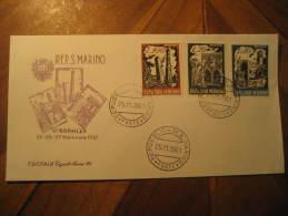 San Marino 1961 Bologna Tourism Architecture Fdc Cancel Cover Italy - FDC
