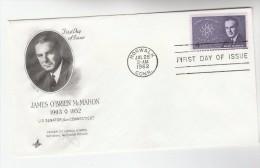 1962 Norwalk USA FDC  Stamps MCMAHON ATOMIC ENERGY Artcraft Cover Nuclear - Atomo