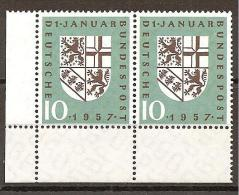 = BRD 1957 - Michel 249 ** = 2er - Unused Stamps