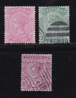 AUSTRALIA-TASMANIA,  3 Cancelled Stamps , MInr. 156,157 And 217  # 126 - 1853-1912 Tasmania