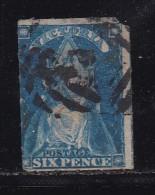 AUSTRALIA-VICTORIA, 1858,  Cancelled Stamp 6d Blue  , MI Nr. 43 #287 - 1850-1912 Victoria