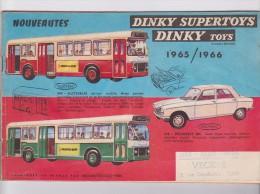 """Catalogue DINKY TOYS""""SUPERTOYS""""1965/1966""""voiture Miniature""""autobus""""camions""""militaire""""maquette""""DS""""Peugeot""""Renault""""Citroën - Magazines"""