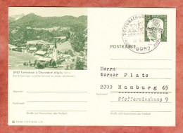 P 107 Heinemann, Abb Tiefenbach B Oberstdorf, SoSt, Nach Hamburg 1972 (89943) - Cartes Postales Illustrées - Oblitérées