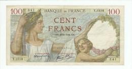 FRANCE 100 F SULLY  DU 16/5/1940 DES TROUS PLIS SALISSURES MAIS PAS DE DECHIRURES NI MANQUE TTB+ - 100 F 1939-1942 ''Sully''