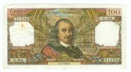 FRANCE 100 F CORNEILLE DU 5/2/1970 PLIS D'USAGE TROUS DONT UN UN PEU ROUILLE NI COUPURE NI MANQUE TTB - 1962-1997 ''Francs''