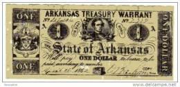 BILLET U.S.A. - REPRODUCTION - IDEM P.S.231 - 1 DOLLAR - 1862 - ARKANSAS - GUERRE DE SECESSION - UNIFACE - Verenigde Staten
