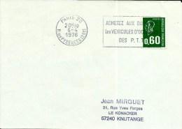 EMA Devant Lettre  Achetez Aux Domaine Vehicules  PTT 1976   B 216 - Marcophilie (Lettres)