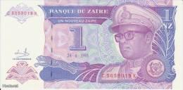 (B0144) ZAIRE, 1993. 1 Nouveau Zaire. P-52. UNC - Zaire