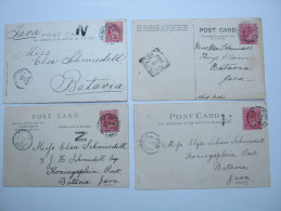 1903/05 , 4 Picture Postcards Send To Java - 1902-1951 (Rois)
