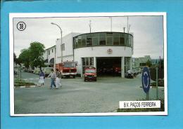 B. V. PAÇOS DE FERREIRA - Bombeiros Voluntários ( Quartel ) - 1992 Pocket Calendar N.º 38 - Portugal - Calendari