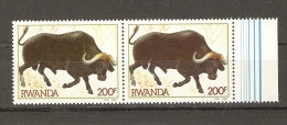 Rwanda 1984 - Buffle - Bovin - 2 Timbres Bord De Feuille MNH - Vaches