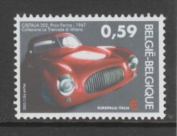 TIMBRE NEUF DE BELGIQUE - AUTOMOBILE CRISTALIA 202, PININ FARINA, 1947 N° Y&T 3195 - Voitures