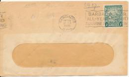 Barbados Cover 17-1-1948 Single Franked - Barbados (...-1966)