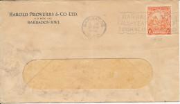 Barbados Cover 17-4-1936 Single Franked - Barbados (...-1966)