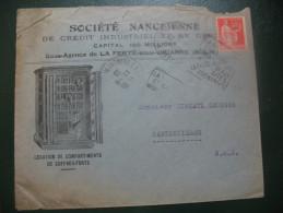 Paix Perforé SN Sur Lettre à En Tete Société Nancéienne De Credit Industriel Et De Dépots - France