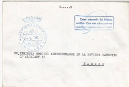 CC FRANQUICIA MILITAR REGIMIENTO INFANTERIA ARAGON N. 17 MALAGA - Franquicia Militar