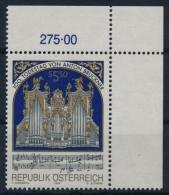 **Österreich Austria 1996 ANK 2215 Mi 2184 (1) Corner Composer Music Anton Bruckner Organ MNH - 1991-00 Nuovi & Linguelle