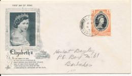 Barbados FDC 4-7-1953 Queen Elizabeth II 4 C. With Cachet - Barbados (...-1966)